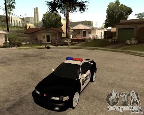 Honda Integra 1996 SA POLICE pour GTA San Andreas laissé vue