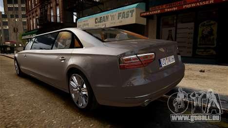 Audi A8 limousine für GTA 4 rechte Ansicht
