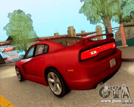 Dodge Charger SRT8 2012 für GTA San Andreas Unteransicht