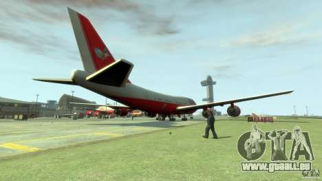 Fly Kingfisher Airplanes with logo für GTA 4 hinten links Ansicht