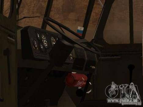 Ural 4320 MOE pour GTA San Andreas vue arrière