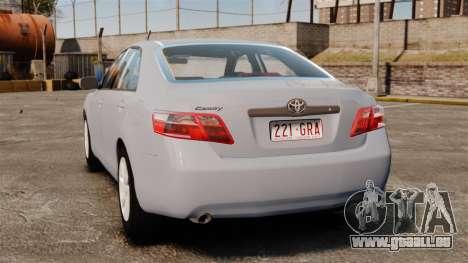 Toyota Camry Altise 2009 pour GTA 4 Vue arrière de la gauche
