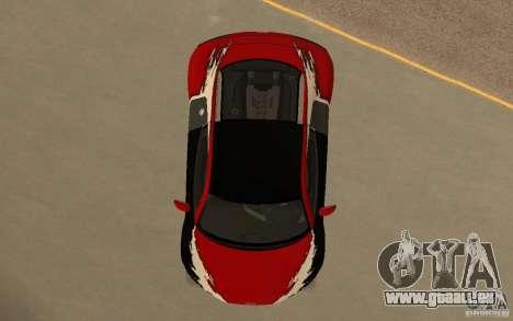 Audi R8 Le Mans Quattro für GTA San Andreas Innen