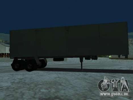 Remorque pour Kamaz 5410 pour GTA San Andreas sur la vue arrière gauche