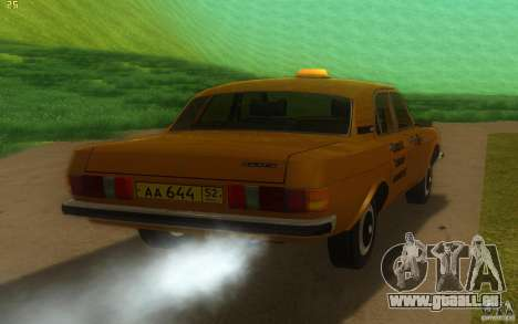 GAZ Volga 3102 Taxi pour GTA San Andreas vue de droite