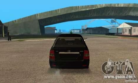 À hayon LADA priora 2172 pour GTA San Andreas vue de droite
