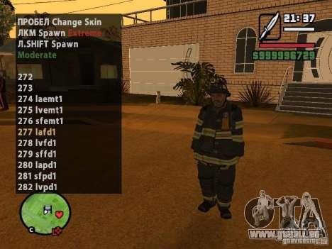 GTA IV peds to SA pack 100 peds pour GTA San Andreas quatrième écran