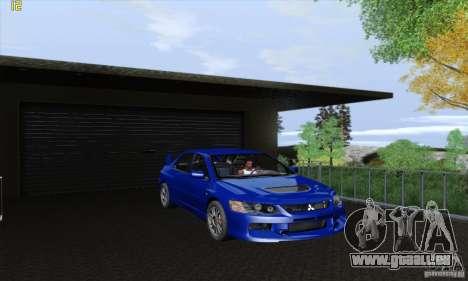 Mitsubishi Lancer Evolution 9 MR Edition für GTA San Andreas Rückansicht