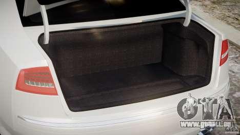 Audi S8 D3 2009 für GTA 4 Rückansicht