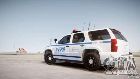 Chevrolet Tahoe 2012 NYPD pour GTA 4 est une gauche