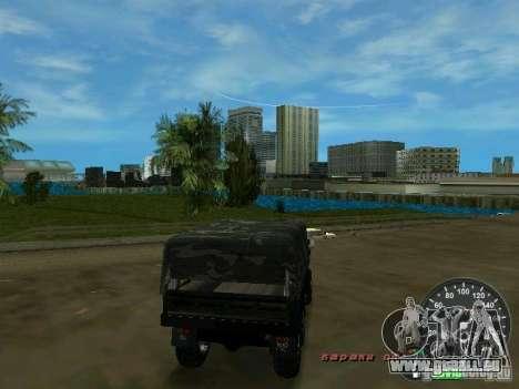Ural 4320 militaire pour une vue GTA Vice City de la droite