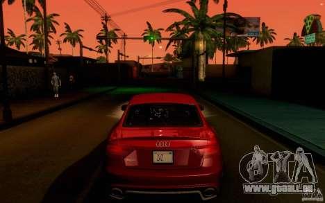 Audi RS5 pour GTA San Andreas sur la vue arrière gauche