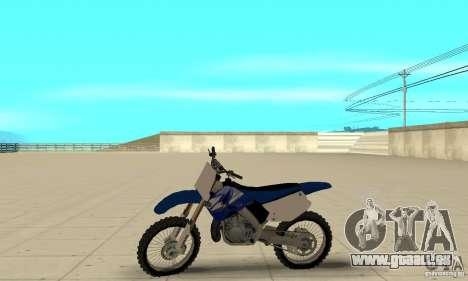 Yamaha YZ250 für GTA San Andreas zurück linke Ansicht