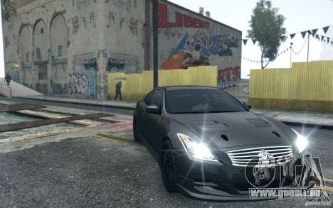 Infiniti G37 Coupe Carbon Edition v1.0 pour GTA 4 est une vue de l'intérieur