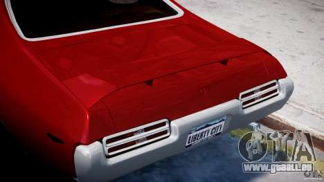 Pontiac GTO 1965 v1.1 pour GTA 4 est une vue de dessous