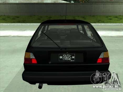 Volkswagen Golf 2 Rat Style pour GTA San Andreas vue arrière