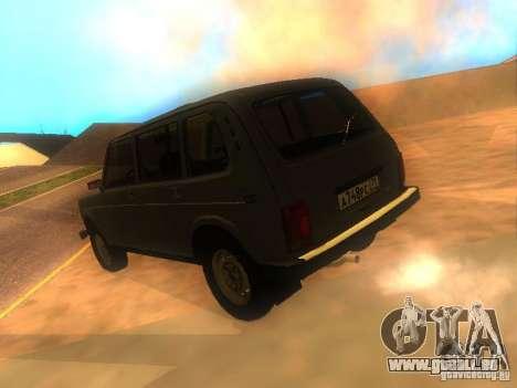 Vaz 2131 NIVA pour GTA San Andreas laissé vue