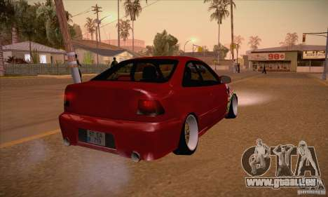Honda Civic Tuning 2012 pour GTA San Andreas vue de droite