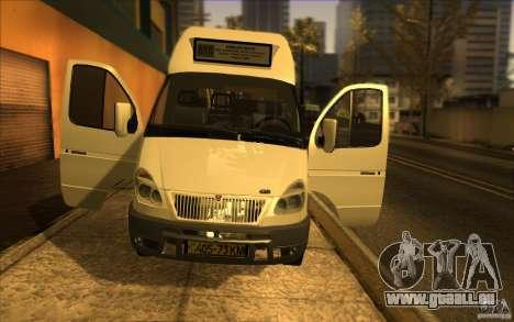 Gazelle SPV-16 Rue für GTA San Andreas Rückansicht