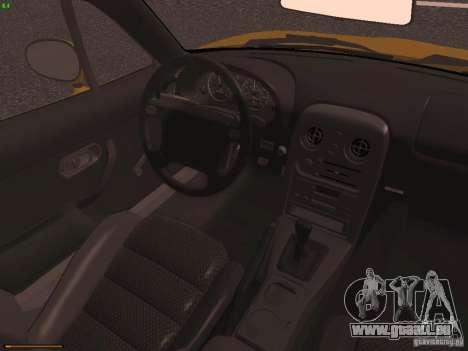 Mazda MX-5 1997 pour GTA San Andreas vue intérieure