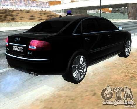 Audi A8L W12 für GTA San Andreas zurück linke Ansicht
