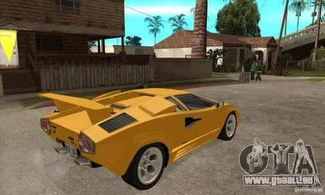 Lamborghini Countach für GTA San Andreas rechten Ansicht