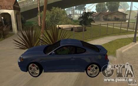 Hyundai Tiburon Jc2 pour GTA San Andreas laissé vue