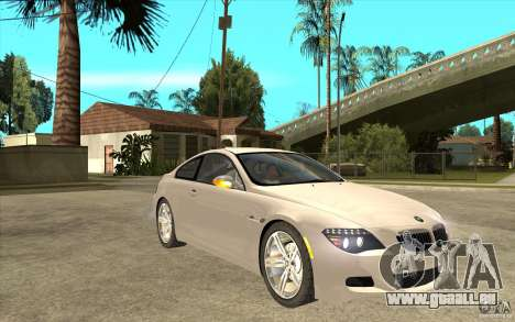 BMW M6 für GTA San Andreas Rückansicht