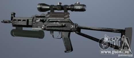 Pistolet-mitrailleur Bizon pour GTA San Andreas deuxième écran