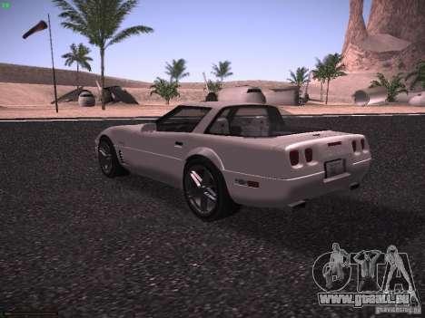 Chevrolet Corvette Grand Sport für GTA San Andreas Rückansicht
