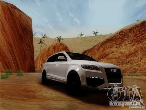 Audi Q7 2010 pour GTA San Andreas sur la vue arrière gauche