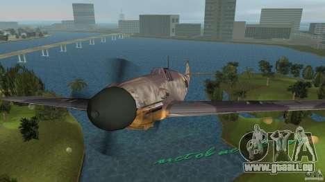 WW2 War Bomber pour une vue GTA Vice City de la droite