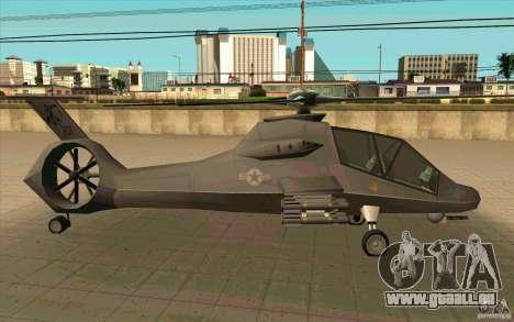 Sikorsky RAH-66 Comanche default grey pour GTA San Andreas vue de droite