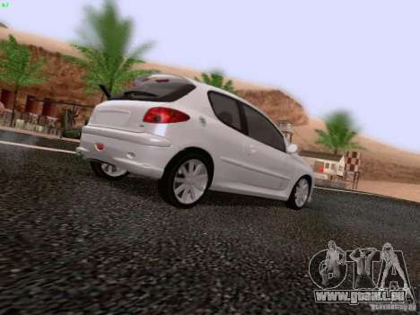 Peugeot 206 für GTA San Andreas linke Ansicht