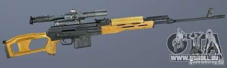Dragunov Scharfschütze-Gewehr (SVD) für GTA San Andreas