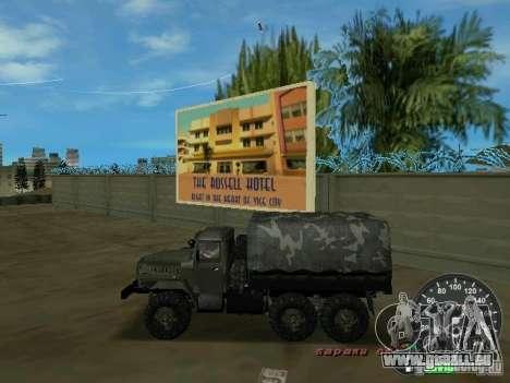 Ural 4320 militaire pour une vue GTA Vice City de la gauche