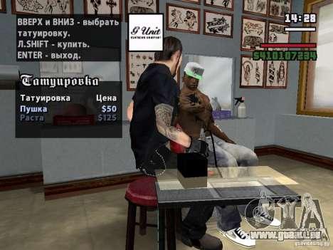 Neue Tattoos für GTA San Andreas zweiten Screenshot