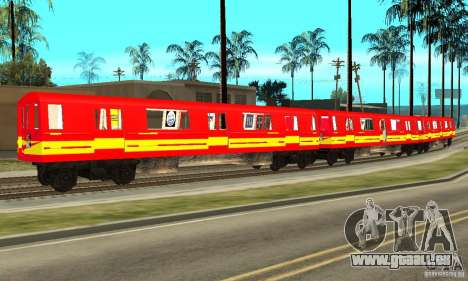 Liberty City Train Red Metro pour GTA San Andreas laissé vue