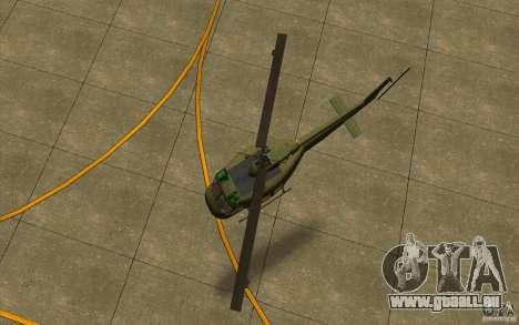 UH-1D Slick für GTA San Andreas Rückansicht
