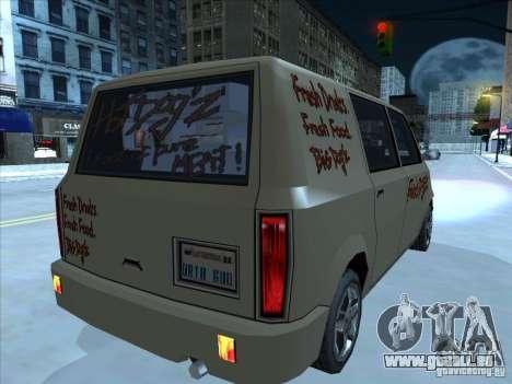 Hot Dog Moonbeam pour GTA San Andreas vue de droite