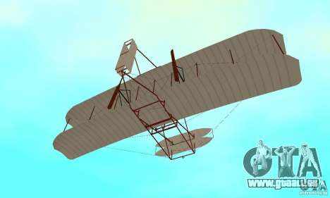 The Wright Flyer pour GTA San Andreas vue de côté