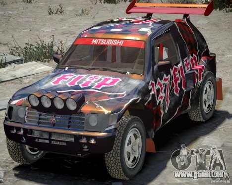 Mitsubishi Pajero Proto Dakar vinyle 3 pour GTA 4 est une gauche
