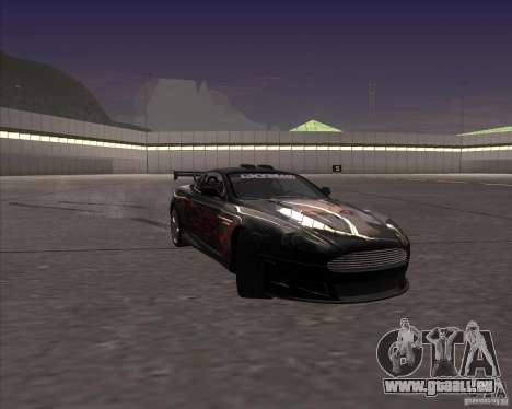 Aston Martin DB9 tunable für GTA San Andreas obere Ansicht