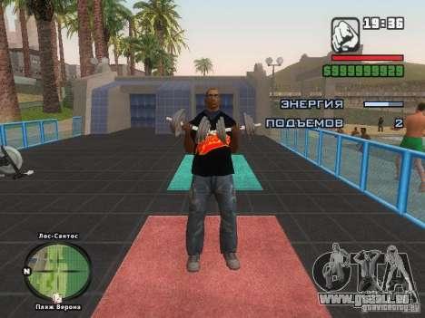 LE T-shirt MIZ pour GTA San Andreas huitième écran