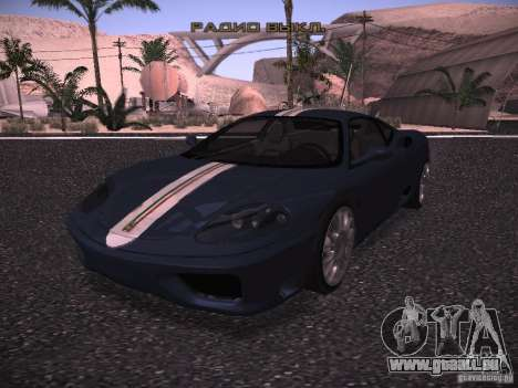 Ferrari 360 Modena für GTA San Andreas obere Ansicht
