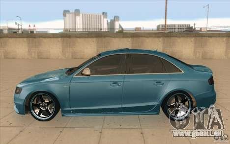Audi S4 2009 pour GTA San Andreas laissé vue