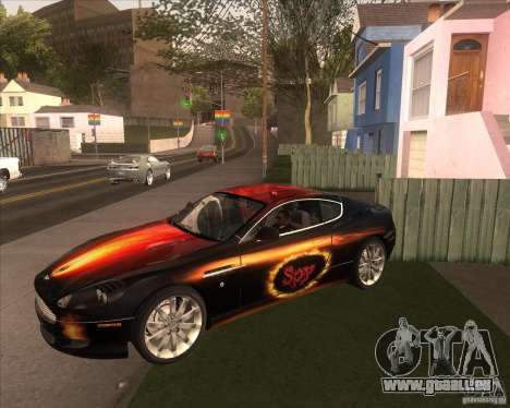 Aston Martin DB9 tunable für GTA San Andreas zurück linke Ansicht