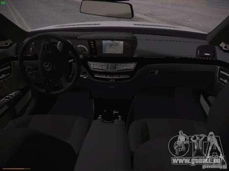 Mercedes Benz S65 AMG 2012 für GTA San Andreas Innenansicht
