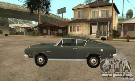 Plymouth Barracuda Formula S 383 1968 für GTA San Andreas linke Ansicht