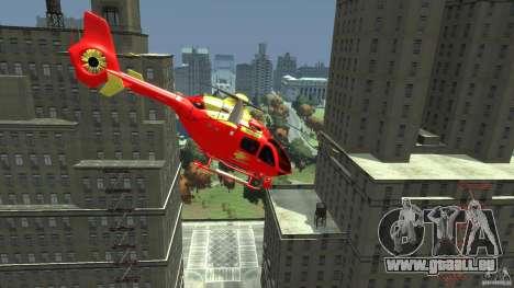 Medicopter 117 für GTA 4 hinten links Ansicht